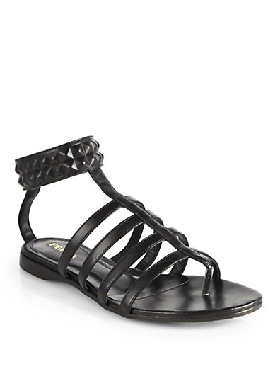 Diana Studded Leather Sandals