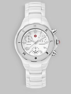 Michele Watches - Tahitian Ceramic White Bezel Watch