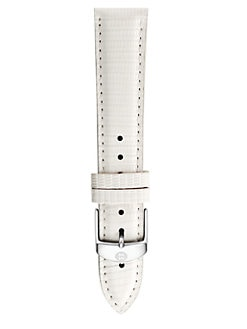 Michele Watches - 16MM Lizard-Embossed Leather Strap