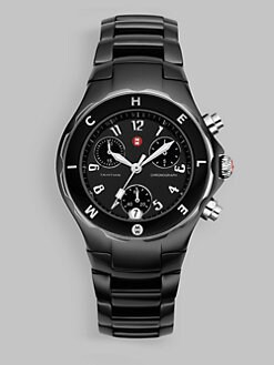 Michele Watches - Tahitian Ceramic Black Bezel Watch