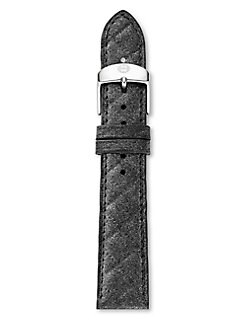 Michele Watches - 18mm Quilted Leather Strap