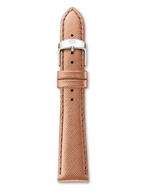 MICHELE WATCHES Saffiano Leather Watch Strap/16MM
