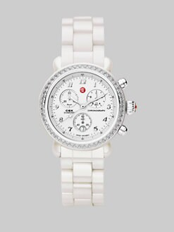 Michele Watches - White CSX Diamond Ceramic Watch