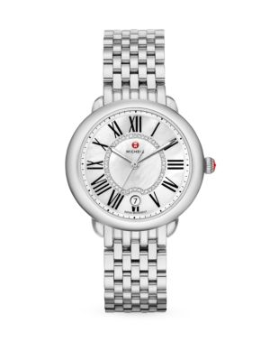 Serein 16 Diamond, Mother-Of-Pearl & Stainless Steel Bracelet Watch