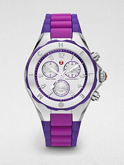 Michele Watches - Tahitian Jelly Bean Chronograph Watch/Purple Colorblock