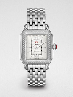 Michele Watches - Diamond Stainless Steel Watch