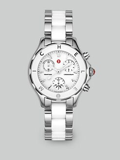 Michele Watches - Tahitian Ceramic & Stainless Steel Watch/White