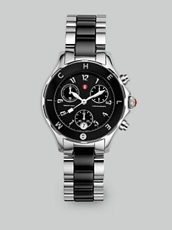Michele Watches - Tahitian Ceramic & Stainless Steel Watch/Black