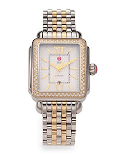 Michele Watches - Diamond & Two-Tone Stainless Steel Watch Head