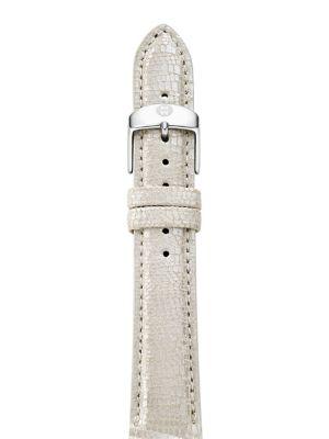 Textured Metallic Leather Watch Strap/16MM