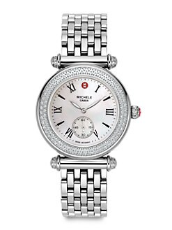 Michele Watches - Caber Stainless Steel Bracelet Watch