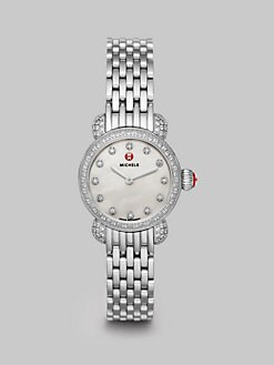 Michele Watches - Pavé Diamond Stainless Steel Watch