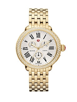 Michele Watches - Serein Diamond Goldplated Bracelet Watch