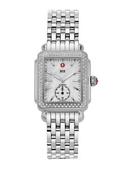Michele Watches - Deco Mother of Pearl & Diamond Watch