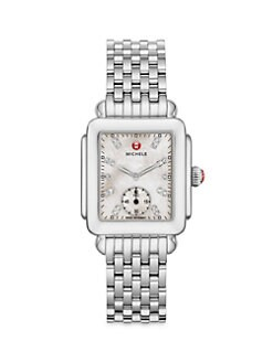 Michele Watches - Deco Stainless Steel Bracelet Watch