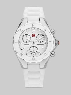Michele Watches - Tahitian Jelly Bean Chronograph Watch/White