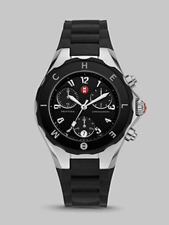 Michele Watches - Tahitian Jelly Bean Chronograph Watch/Black