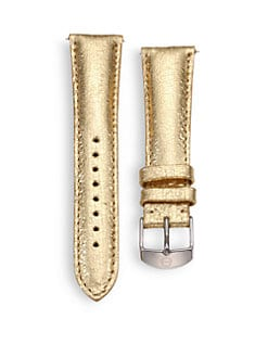 Michele Watches - 20MM Metallic Leather Strap