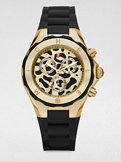 Michele Watches - Animal Dial Chronograph Watch