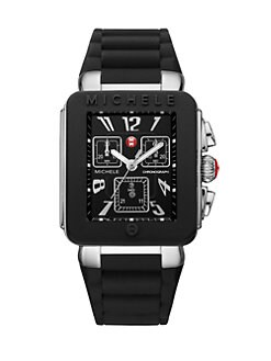 Michele Watches - Enamel Stainless Steel Chronograph Watch/Black