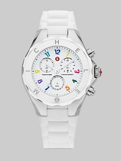 Michele Watches - Tahitian Large Jelly Bean Carousel Watch/White