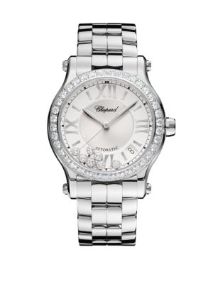Happy Sport Diamond & Stainless Steel Bracelet Watch