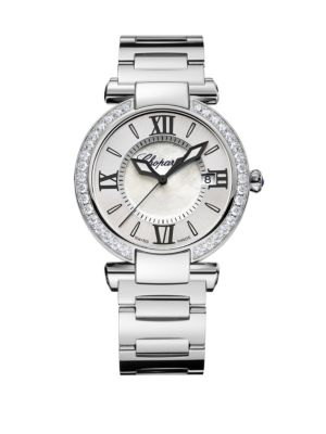 Imperiale Diamond, Mother-Of-Pearl & Stainless Steel Bracelet Watch
