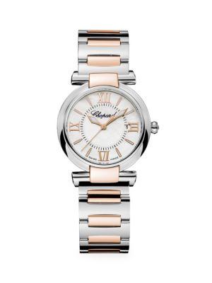 Imperiale Diamond, Amethyst, 18K Rose Gold & Stainless Steel Bracelet Watch