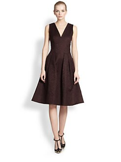 Jason Wu - Wavy Jacquard Flounce Dress