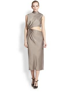 Jason Wu - Satin Cutout-Drape Dress