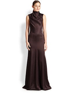 Jason Wu - Satin Cutout-Drape Gown
