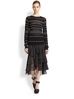 Jason Wu - Silk Pointelle-Knit Sweater