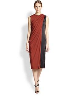 Jason Wu - Silk Satin & Jersey Dress