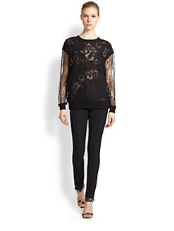 Jason Wu - Lace & Floral-Print Pullover