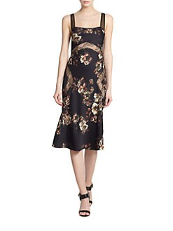 Jason Wu - Floral Lace-Insert Dress