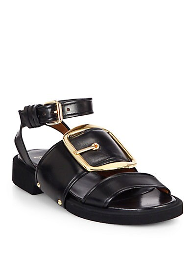 Runway Leather Buckle Sandals