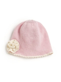 Portolano - Little Girl's Flower Cashmere Hat