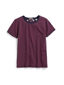 Scotch Shrunk - Boy's Striped Round Neck Tee