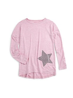 Design History - Girl's Rhinestone Long Sleeve Top