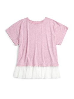 Design History - Girl's Ruffle-Hem Tee