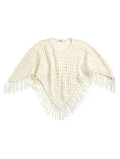 Design History - Girl's Crochet & Cable Poncho