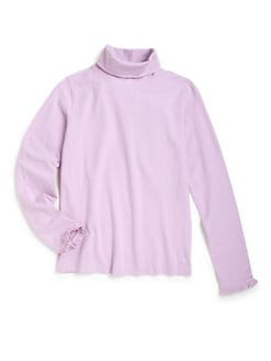 Vineyard Vines - Girl's Ruffle Detail Turtleneck Top
