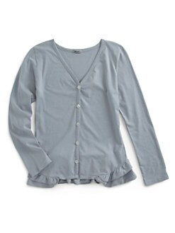 LAmade Kids - Girl's Cotton Ruffled Cardigan