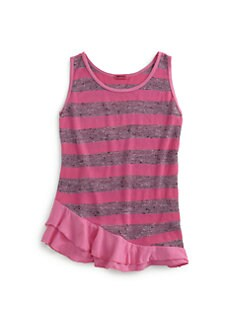 LAmade Kids - Girl's Kayla Striped Ruffle Top