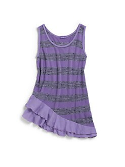 LAmade Kids - Girl's Heather Stripe Tank Top