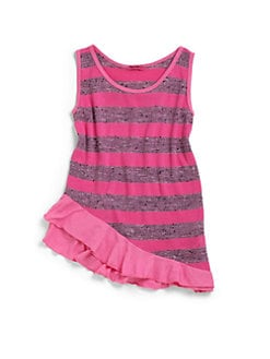 LAmade Kids - Little Girl's Heather Stripe Tank Top