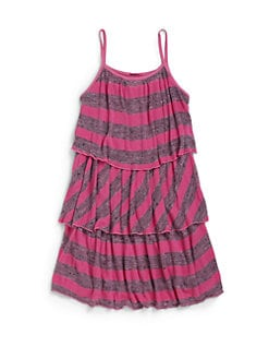 LAmade Kids - Girl's Heather Stripe Swing Dress