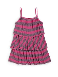 LAmade Kids - Little Girl's Heather Stripe Swing Dress