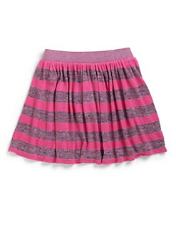LAmade Kids - Girl's Heather Stripe Skirt