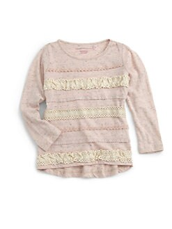 Design History - Toddler's & Little Girl's Lace-Stripe Tee